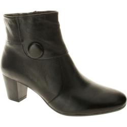 Women's Spring Step Ariella Black Leather
