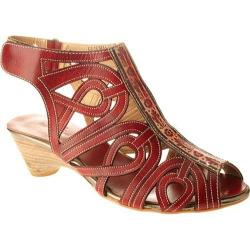 Women's Spring Step Flourish Red Leather