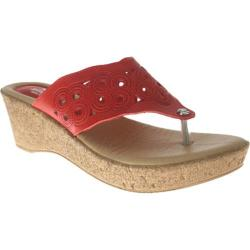 Women's Spring Step Foamy Red Leather