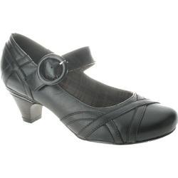 Women's Spring Step Gidget Black Leather