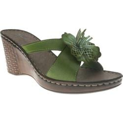 Women's Spring Step Marseilles Green Leather