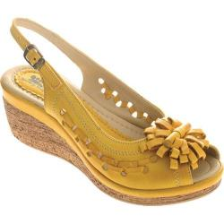 Women's Spring Step Lolita Yellow Leather