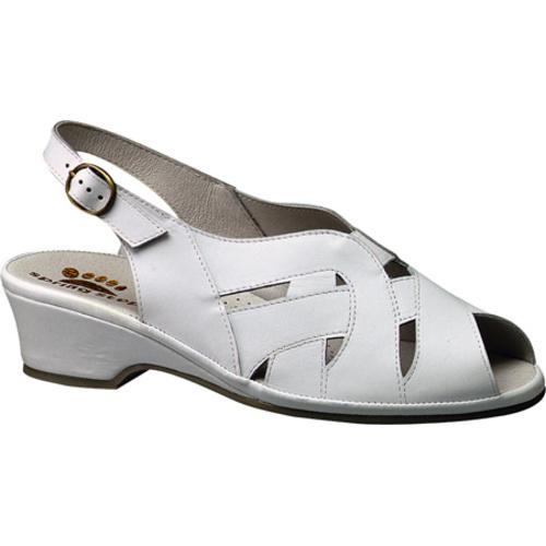 Women's Spring Step Marina White Leather