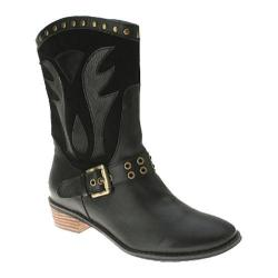 Women's Spring Step Markie Black Leather