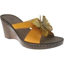 Women's Spring Step Marseilles Yellow Leather