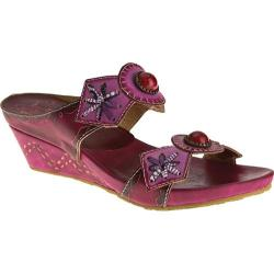 Women's Spring Step Sesame Purple Multi Leather