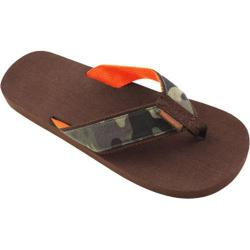 Men's Tidewater Sandals Camo Brown/Green/Orange