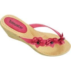 Women's Tidewater Sandals Flowers Fuchsia