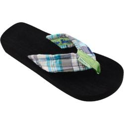 Women's Tidewater Sandals Green Madras Green/Blue