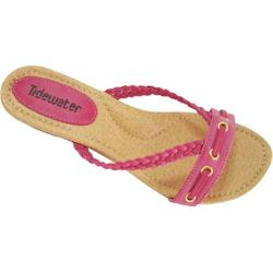 Women's Tidewater Sandals Low Wedge Fuchsia
