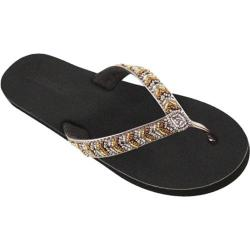 Women's Tidewater Sandals Metallic Beads Gold/Pewter/Bronze