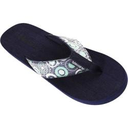 Women's Tidewater Sandals Navy Circles Navy/Green