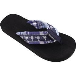 Tidewater Sandals Navy Palmetto Madras Navy/White