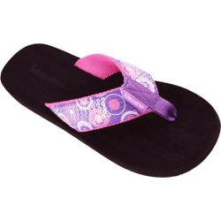 Women's Tidewater Sandals Purple Circles Purple/Pink/White