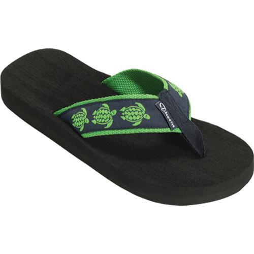 Women's Tidewater Sandals Sea Turtles Navy/Green