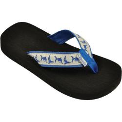 Children's Tidewater Sandals Sharks Blue/Grey