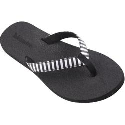 Women's Tidewater Sandals Silver Stripe Silver/Black