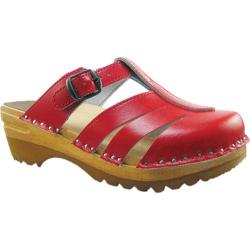 Women's Troentorp Bastad Clogs Mary Jane Red