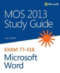 Mos 2013 Study Guide for Microsoft Word (Paperback)