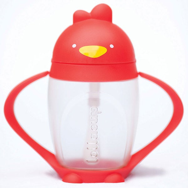 Lollacup Bold Red Infant and Toddler Straw Cup