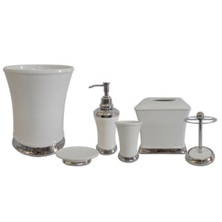 Emerson White Bath Accessories 6-piece Set