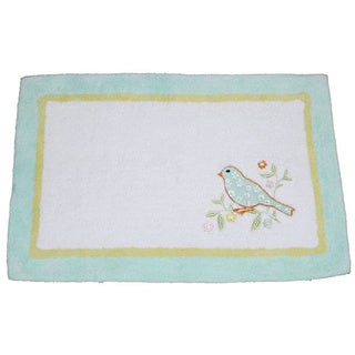 Laura Ashley Birds and Branches Cotton Bath Rug