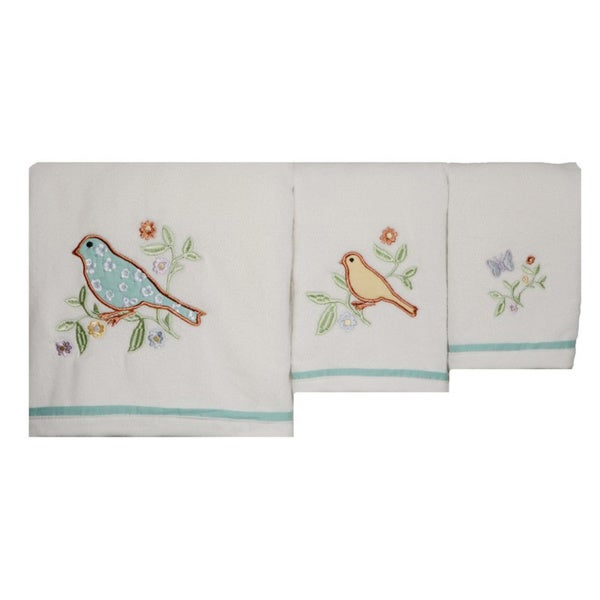Laura Ashley Birds and Branches Cotton 3-piece Towel Set