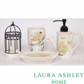 Laura Ashley Birds and Branches 4-piece Bath Accessory Set