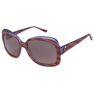 Italian Gucci Women's GG3190 Rectangular Sunglasses