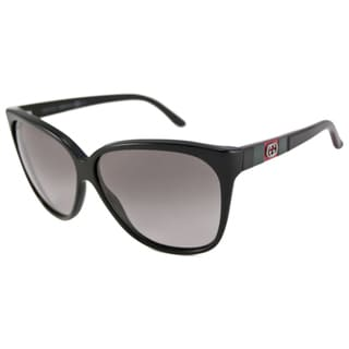 Gucci Women's GG3539 Cat-Eye Black/Gray Sunglasses