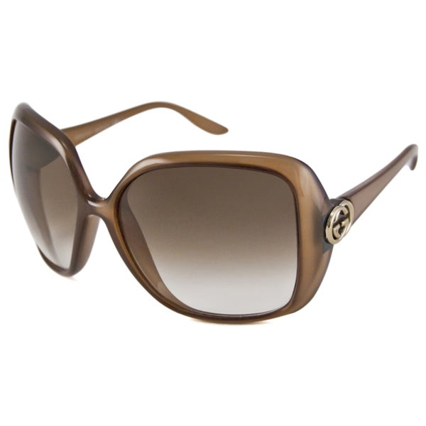 Gucci Women's GG3167 Rectangular Plastic Sunglasses