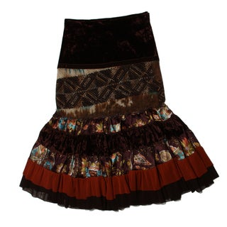 Sweetheart Jane Girls Long Patchwork Tiered Skirt
