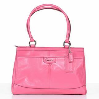 Coach 'Park' Punch Leather Carryall Handbag