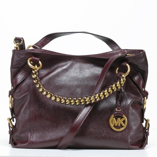 MICHAEL Michael Kors 'Tristan' Large Bordeaux Leather Tote Bag