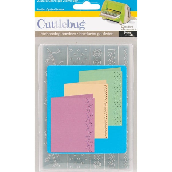 Cuttlebug Embossing Folder Border Set 5/Pkg-Just My Type