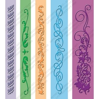 Cuttlebug Embossing Folder Border Set 5/Pkg-Organic