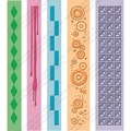 Cuttlebug Embossing Folder Border Set 5/Pkg-Pop Culture