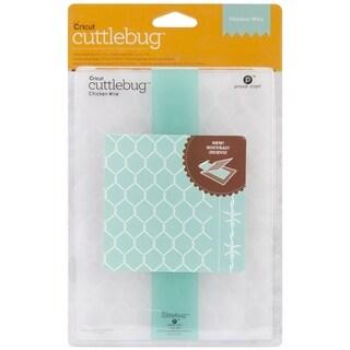 Cricut Cuttlebug 5X7in Embossing Folder/Border Set-Chicken Wire