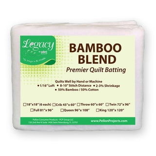 Legacy King Size Bamboo/ Cotton Blend Batting with Scrim