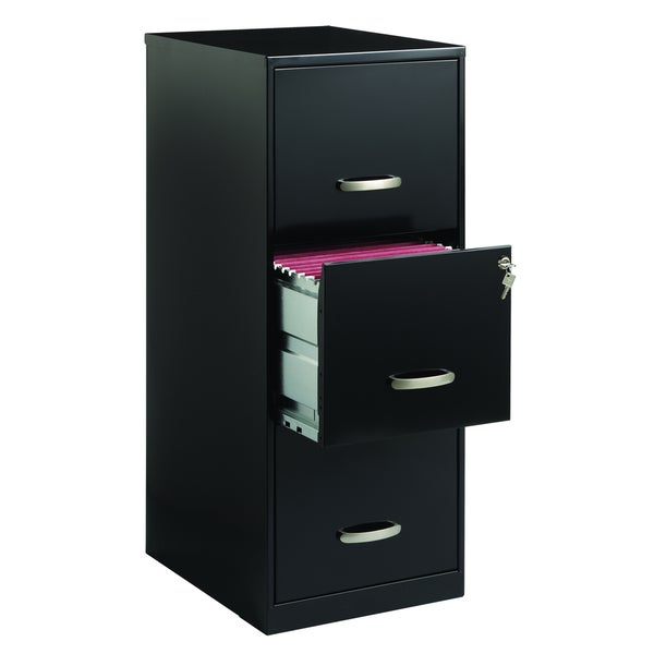 office designs 3 drawer black steel file cabinet