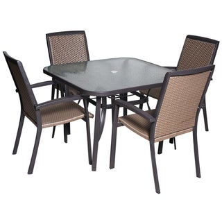 St. Charles Wine Wicker Dining Set