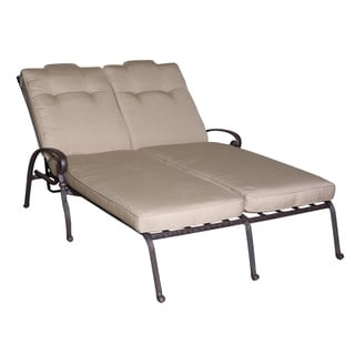 Elegant Beige Double Chaise Lounge