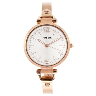Fossil Women's 'Georgia' Rose-goldtone Stainless Steel Watch