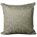 Nourison Mina Victory Light Green Crochet Floral Decorative Pillow