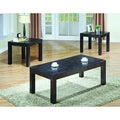 Dark Walnut Veneer 3-piece Coffee/ End Table Set
