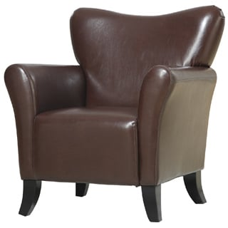 Brown Contempory Vinyl Upholstered Chair