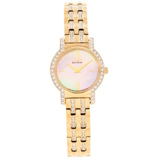 Citizen Women's 'Silhouette' Crystal Accented Goldtone Watch
