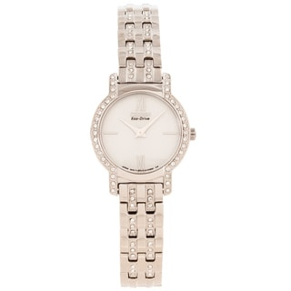 Citizen Women's 'Silhouette' Crystal Accented Silvertone Watch