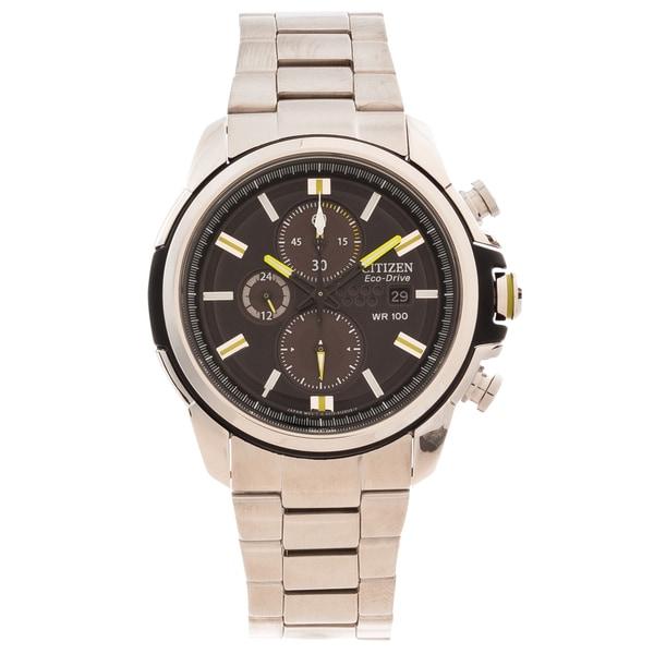 Citizen Men's 'AR 2.0' Eco-Drive Black Dial Chronograph Watch
