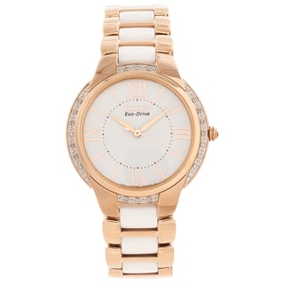 Citizen Women's 'Ciena' Ceramic Diamond-accented Watch